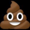 Greičiausias lenktynininkas. - paskutinis pranešimas Poop Emoji